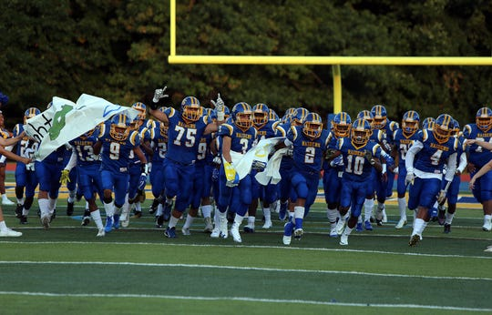 St. Joseph (Met.) at North Brunswick football on Thursday, Aug. 30, 2018.