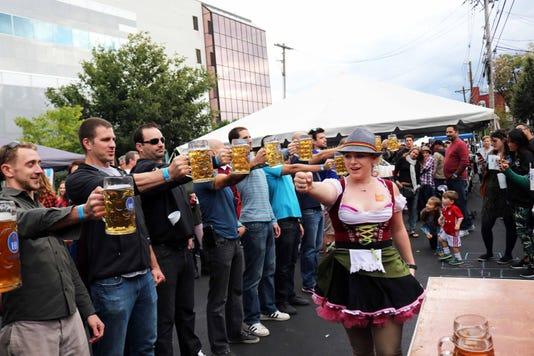 Somerville Oktoberfest Beer Stein Holding Contest