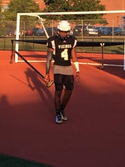 South Brunswick football player Katibu Martin before the opener against Lenape on Aug. 30.