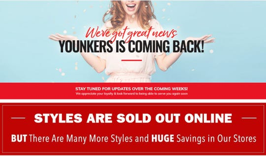 The Younkers.com website says the defunct department store that closed Wednesday could make a comeback soon.