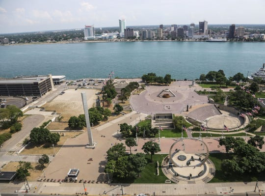 Hart Plaza in downtown Detroit in July 2016.