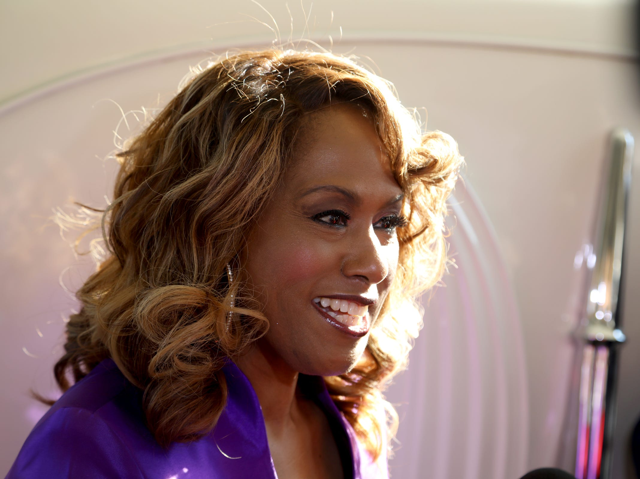 Singer and actress Jennifer Holliday arrives at  Greater Grace Temple in Detroit to pay final respects to Aretha Franklin, Friday, August 31, 2018.  Eric Seals, Detroit Free Press