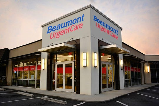 A rendering of a Beaumont Health urgent care center that will be located in shopping centers andoffice buildings across metro Detroit.