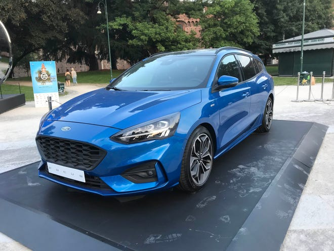 Ford showed off its 2019 Ford Focus wagon in June 2018 in Milan, Italy.