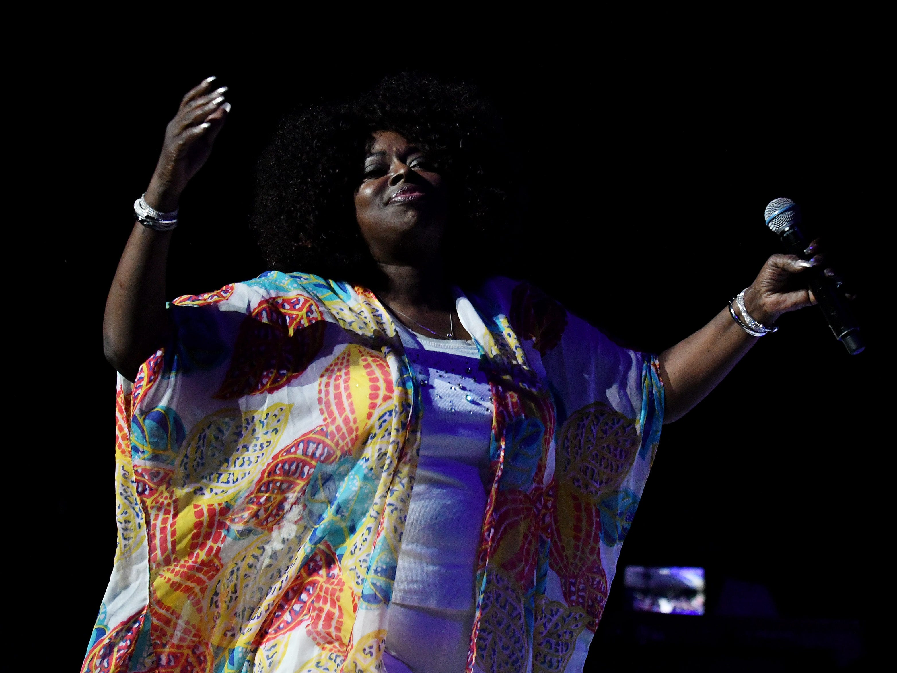 Angie Stone performs at the Aretha Franklin Tribute Concert.