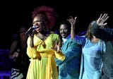 Sights and sounds from Aretha Franklin Tribute Concert at Chene Park Ampitheatre.