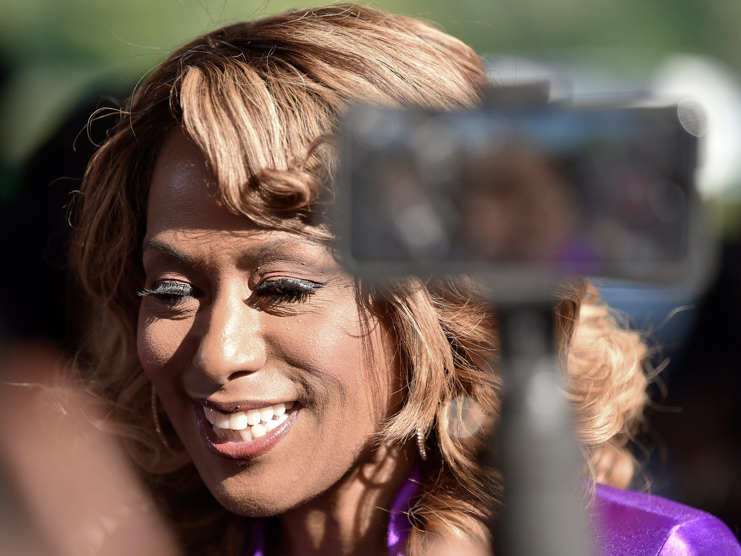 Jennifer Holliday, the Original Dream Girl, talks to the media.