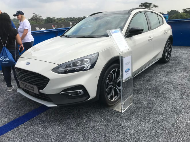 The European-built Focus Active crossover on display at the Festival of Speed in England in July, 2018.