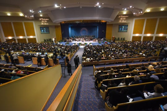 Greater Grace Temple was packed for Aretha Franklin's funeral.