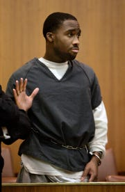 Nathaniel Abraham agrees to a plea deal on a drug charge before Judge Daniel O'Brien in Oakland County Circuit Court in Pontiac on November 17, 2008.