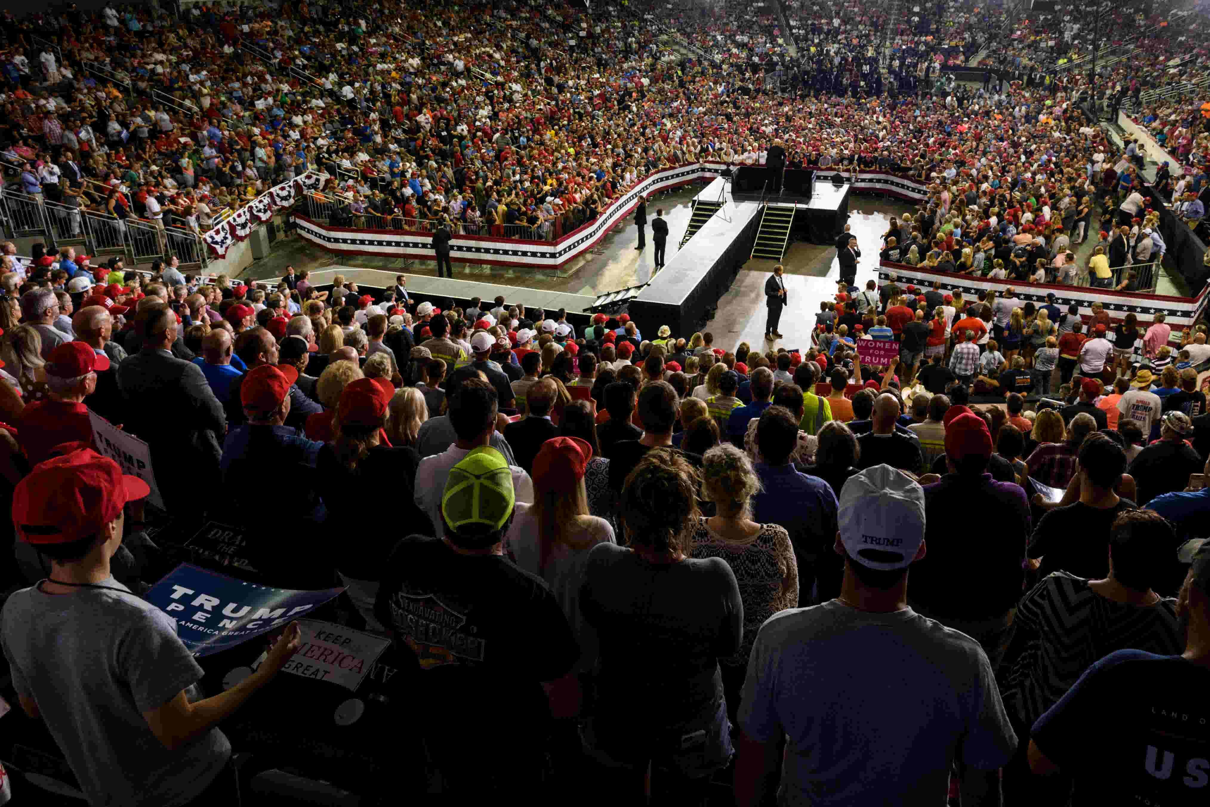 Heres A Transcript Of President Trumps Speech At Evansville Rally