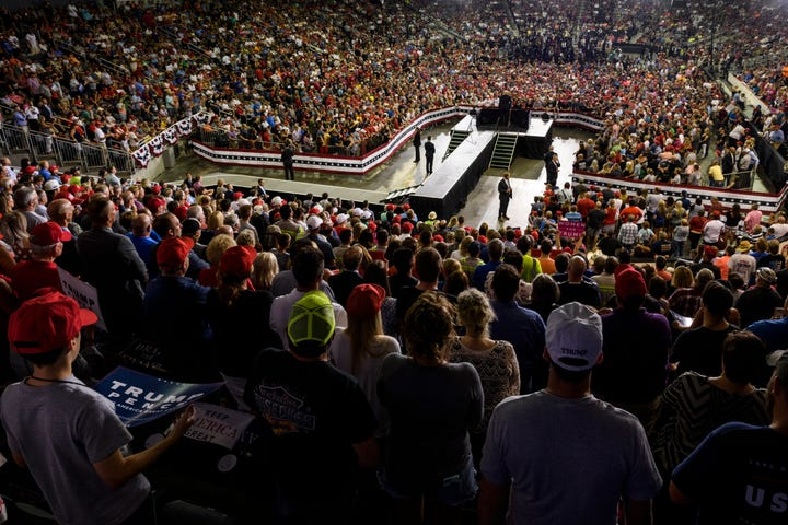 Evansville's Trump rally draws largest crowd ever at Ford Center