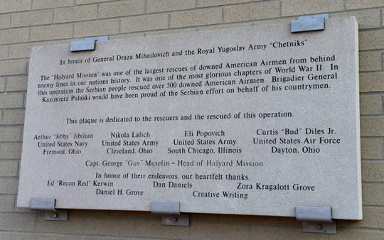 The plaque now at Fremont VFW honors the rescuers and those rescued.