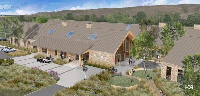 The image above is an architectural rendering of the Larimer County mental and behavioral health facility to be built if voters approve the measure in November.