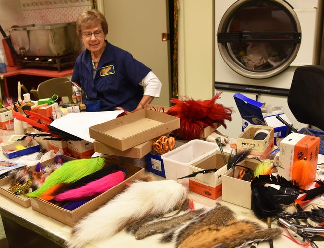 Peg Doucette has helped Sheldon's Inc. turn squirrel tails into fish attractants on Mepps spinning lures for 52 years.