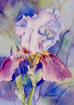 """In All Its Glory,"" watercolor by Ed Fenendael, who holds his annual exhibit with some of his students Saturday, Sept. 8, at his Morning Mist Studio at Windmill Farm."