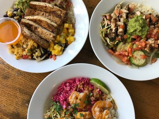 The new Healthy Bowls at Chicora Alley are available at lunch and feature a healthy blend of protein and veggies.