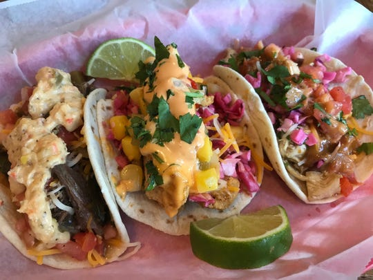 The menu at Chicora Alley now features new items like street tacos, with choices including meat and three (brisket, sweet potatoes, collards, cheese, pico de gallo and creamed corn reduction), fried grouper and Thai chicken.