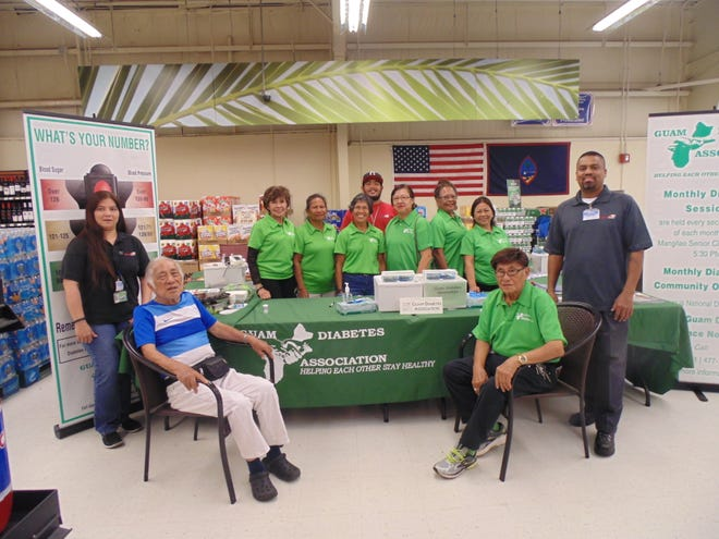 The Guam Diabetes Association recently hosted a Diabetes Community Outreach at the Island Fresh Supermarket in Chalan Pago. The volunteers conducted health screenings, counseling and distributed diabetes brochures to the participants. Island Fresh provided diced fresh fruits. Pictured are the GDA volunteers, nurses and Island Fresh staff.