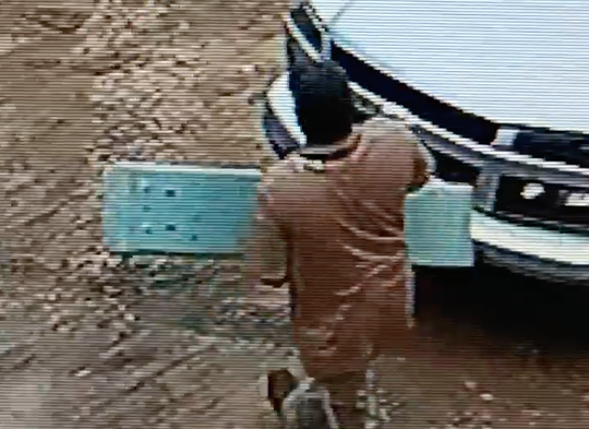 Hattiesburg police are looking for this man, who allegedly took building materials from a site at 3720 Hardy St.