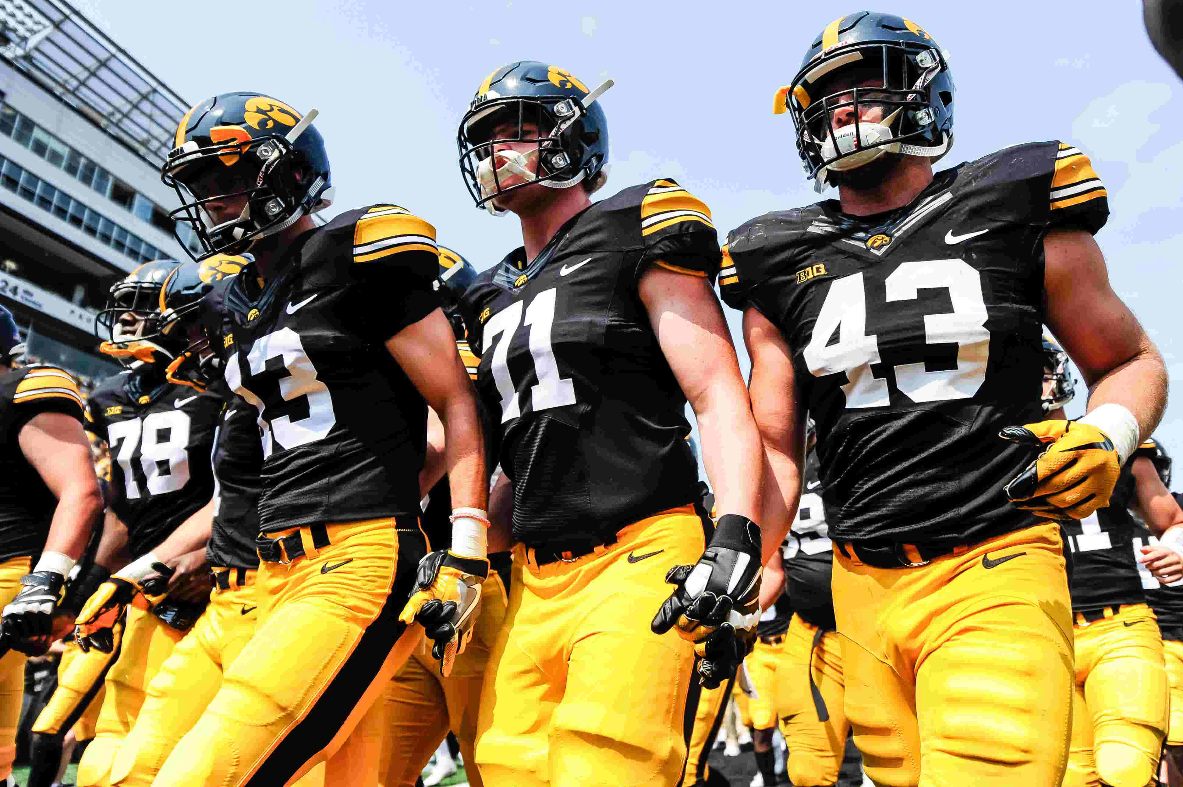 Watch: Hawkeyes football team emerges from Kinnick Stadium tunnel