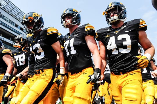 Mark Kallenberger (71) redshirted in 2017, but the Bettendorf product knew his time was coming.