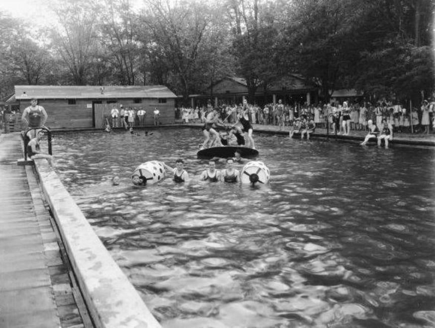 The pool at Rose Island was alleged to have been the first filtered pool in the Midwest.