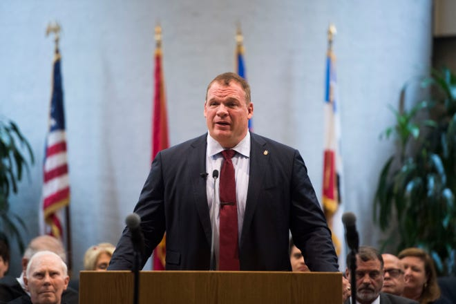 Knox County Mayor and former WWE wrestler Glenn Jacobs doesn't work out as hard as he used to, but he still hits the gym five to six days a week, which helps him put down up to 5,000 calories a day.
