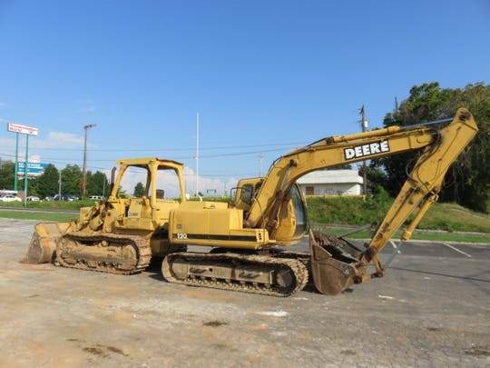 Construction equipment stands at Walker Springs Road on Aug. 29, 2018, after razing of Shoney's.