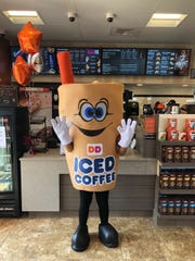 Dunkin's Iced Coffee Man is ready for grand opening fun at the new Chapman Highway location.