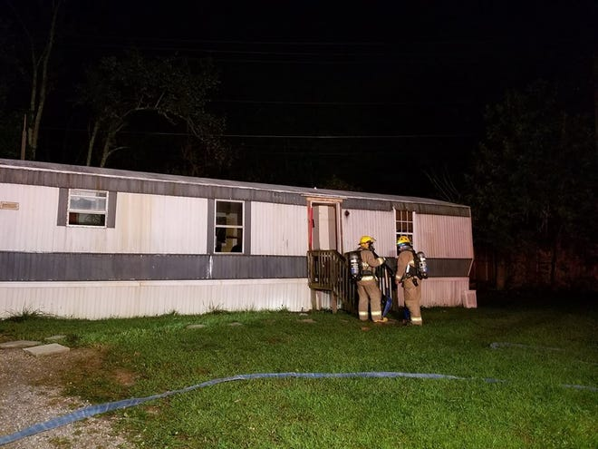 One man has been arrested, suspected of dousing his home in gasoline and threatening to set it on fire with people in it. No one was injured and firefighters have ventilated the home.