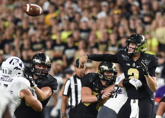 Elijah Sindelar gives Purdue coach Jeff Brohm the downfield passing threat he seeks from his offense.