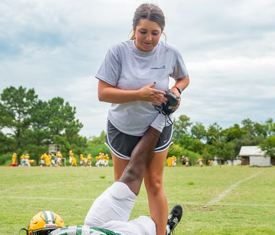Conditioning the athletes to prevent injuries is an important part of an athletic trainer's job