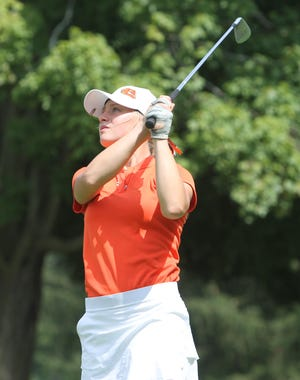 Annie Pietila shot 76, leading Brighton to the championship of the Patriot Cup in Frankenmuth.