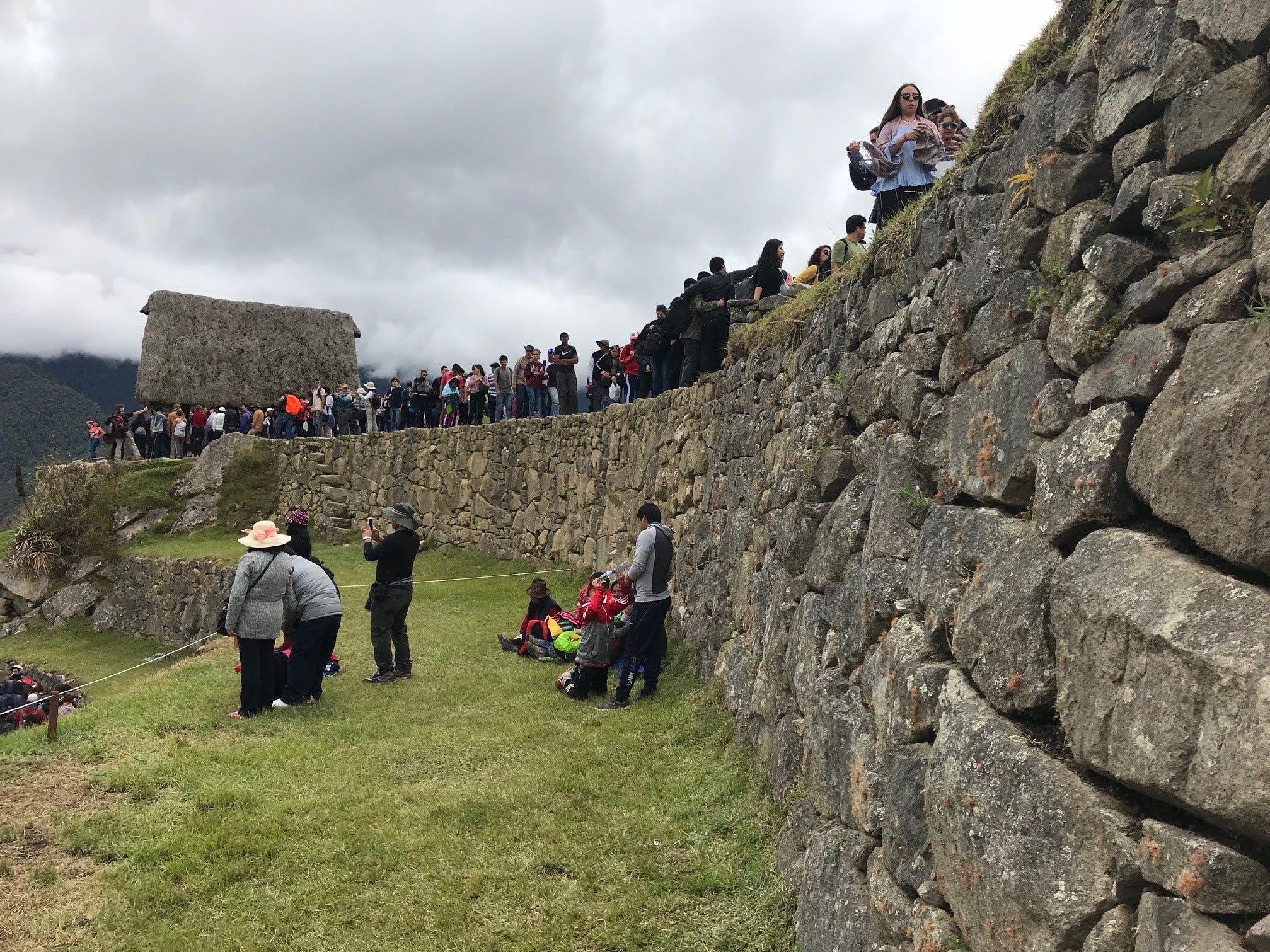 The crowds at Machu Picchu