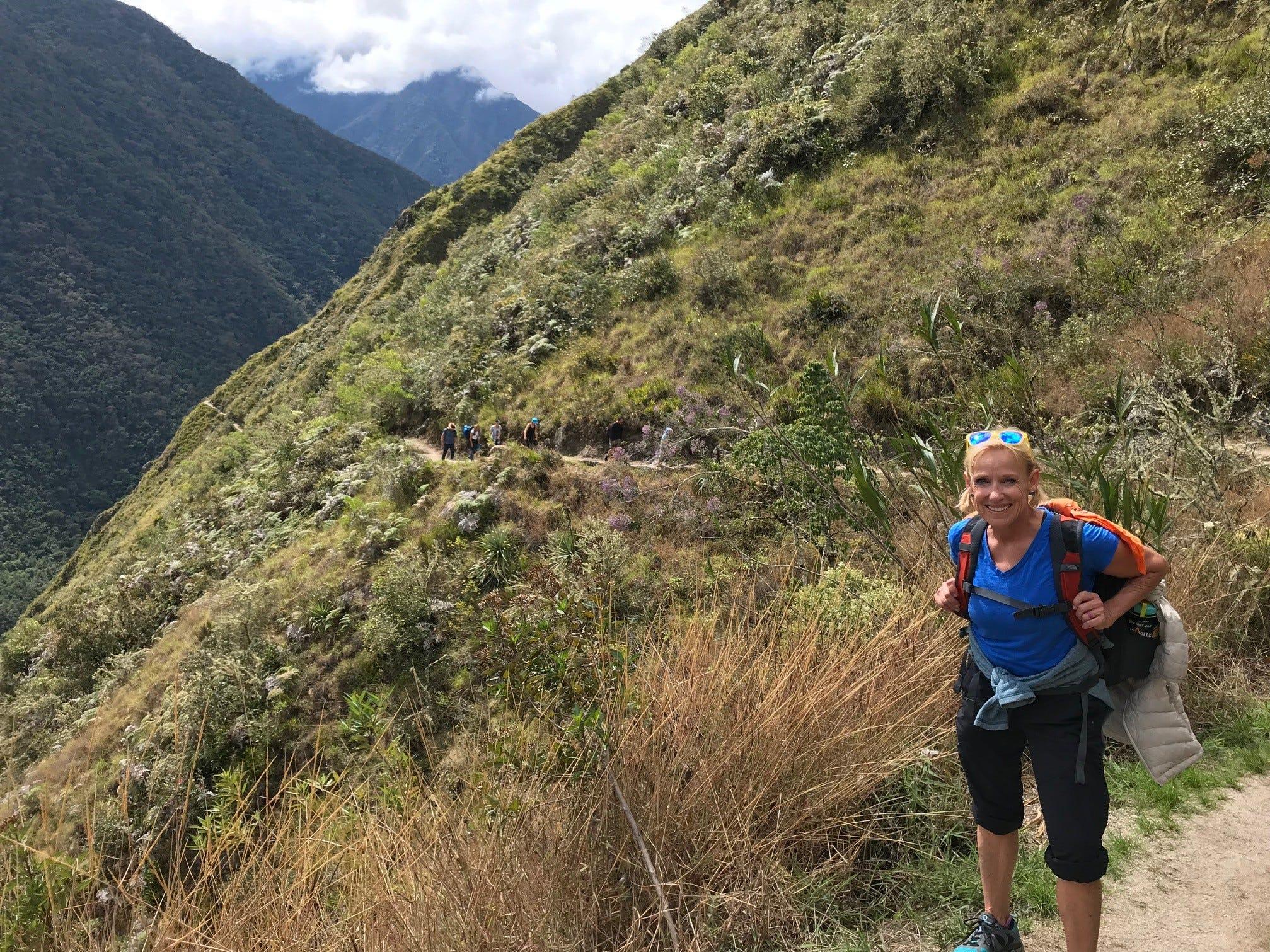 Kirby Adams hiking the Inca Trail