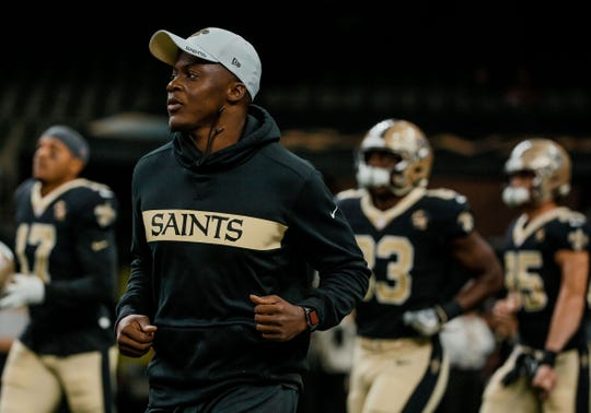 Aug 30, 2018; New Orleans, LA, USA; New Orleans Saints quarterback Teddy Bridgewater before a preseason game against the Los Angeles Rams at the Mercedes-Benz Superdome. Mandatory Credit: Derick E. Hingle-USA TODAY Sports