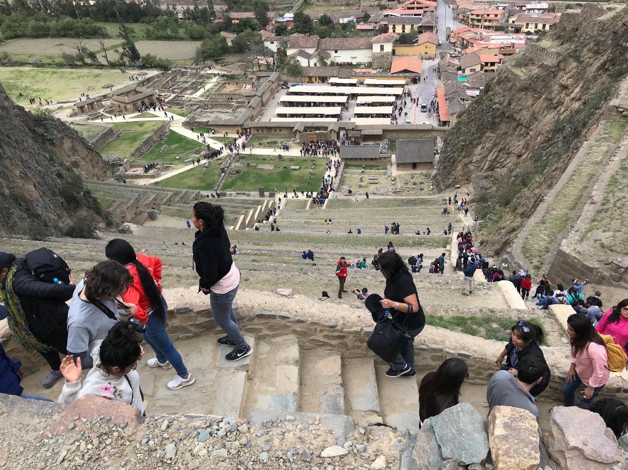 Inca fortress at Ollantaytambo, Peru