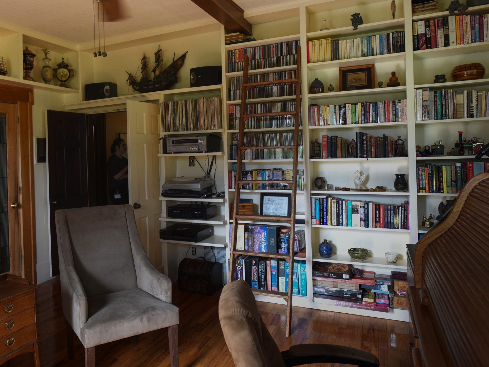 The library in the historic Shaft homestead in Shaftsburg.  The five bedroom farmhouse  was built in 1846.