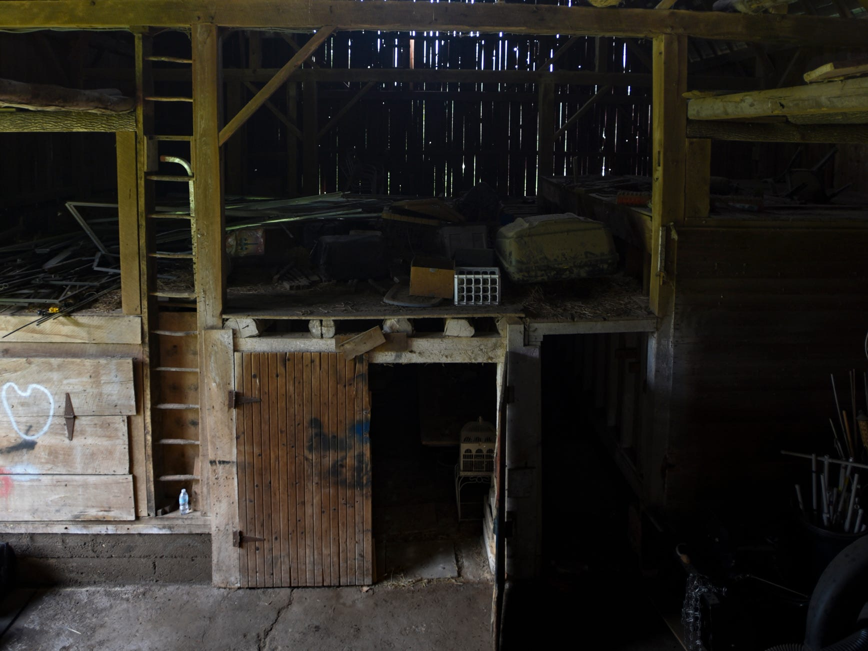 A peek inside the barn of the historic Shaft homestead in Shaftsburg.  The five bedroom farmhouse  was built in 1846.
