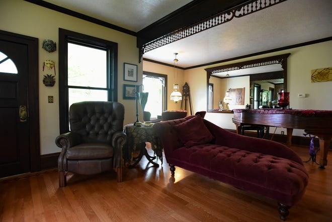 The living room in the historic Shaft homestead in Shaftsburg.  The five bedroom farmhouse  was built in 1846.