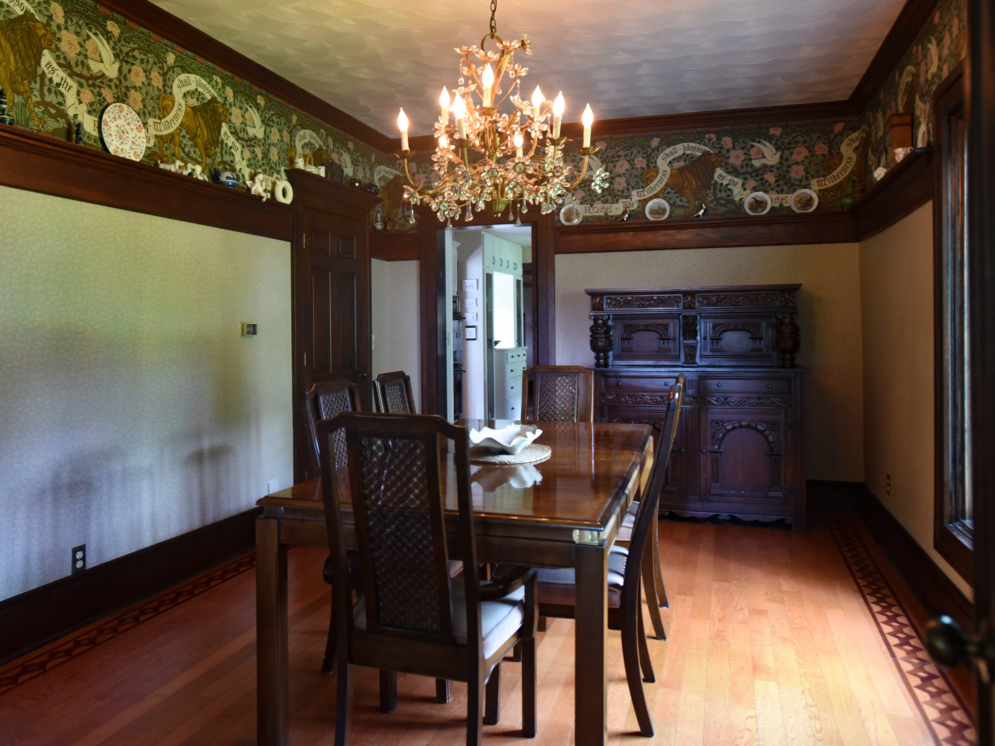 The dining room in the historic Shaft homestead in Shaftsburg.  The five bedroom farmhouse  was built in 1846.