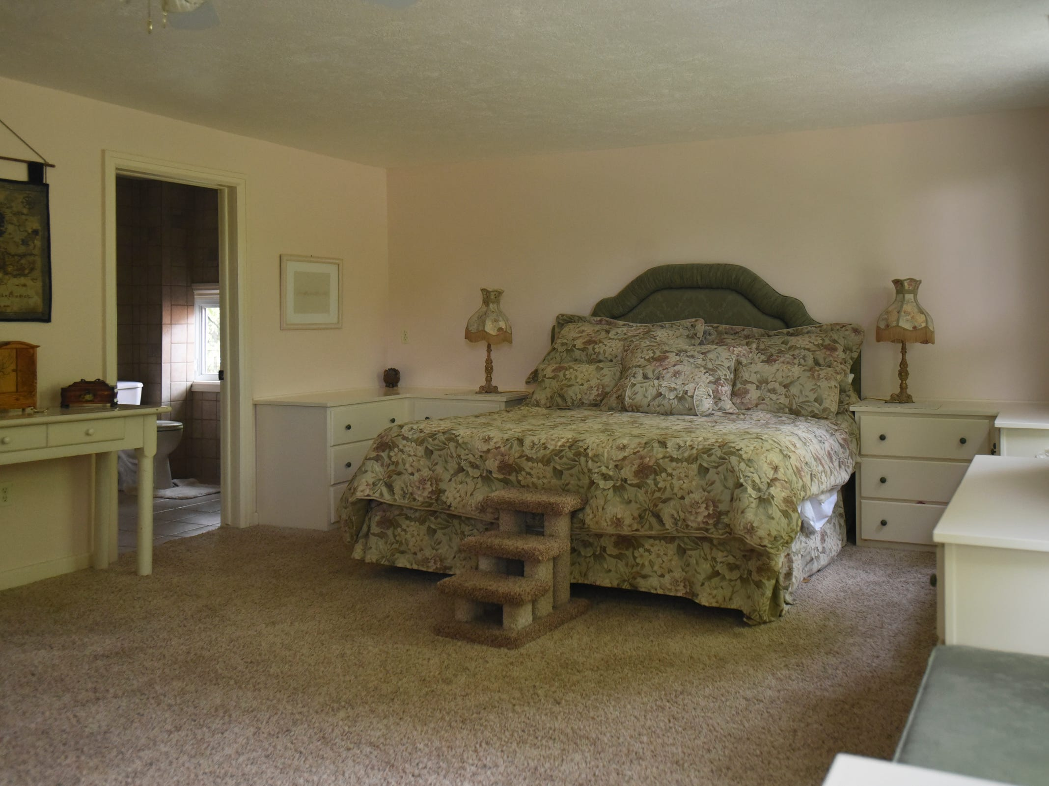 An upstairs bedroom in the historic Shaft homestead in Shaftsburg.  The five bedroom farmhouse  was built in 1846.