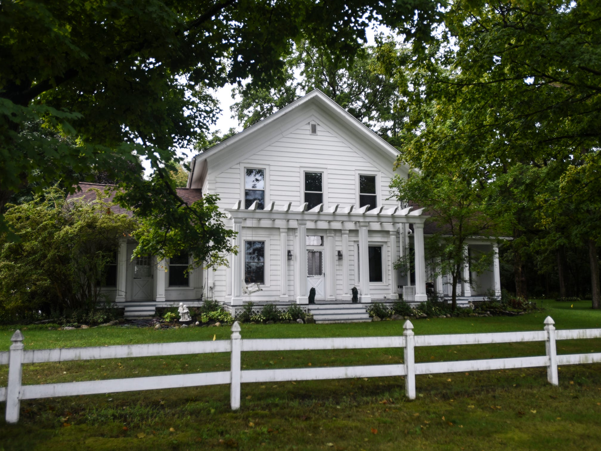 An exterior of the historic Shaft homestead in Shaftsburg.  The five bedroom farmhouse  was built in 1846.