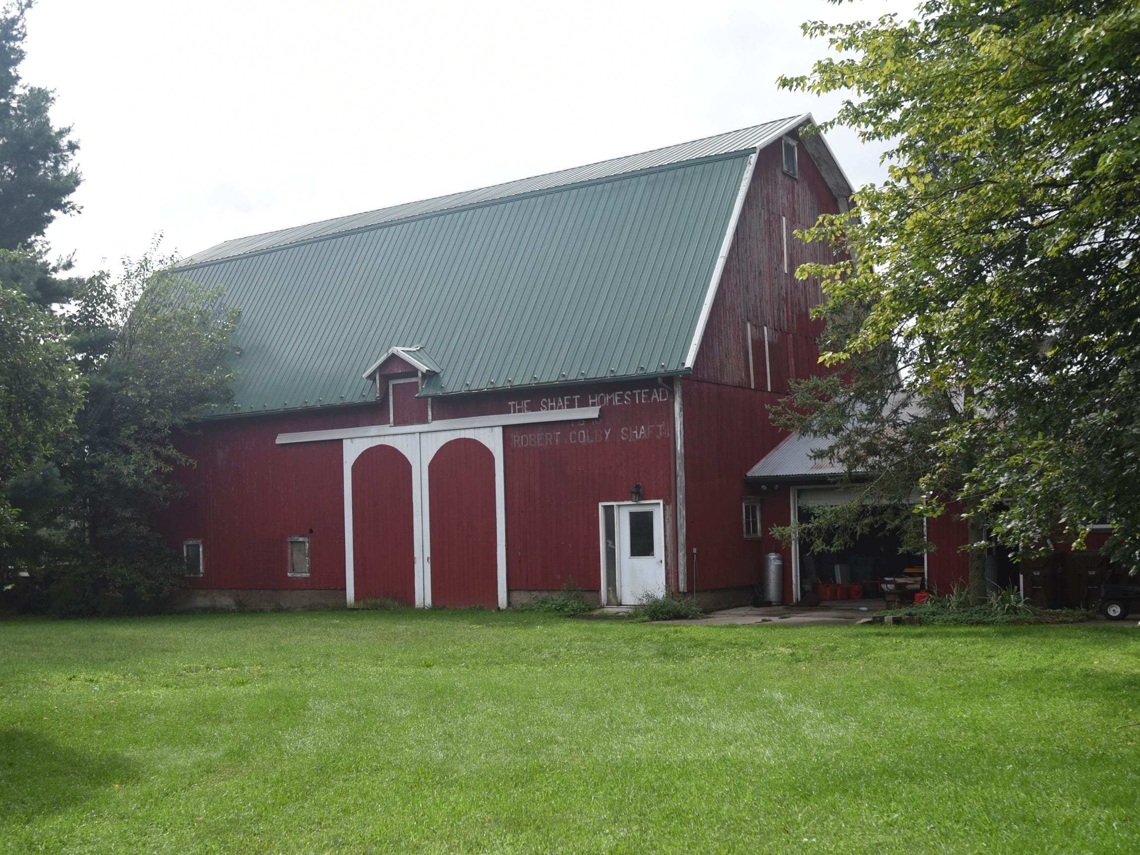 The barn and horse stable at the historic Shaft homestead in Shaftsburg.  The five bedroom farmhouse  was built in 1846.