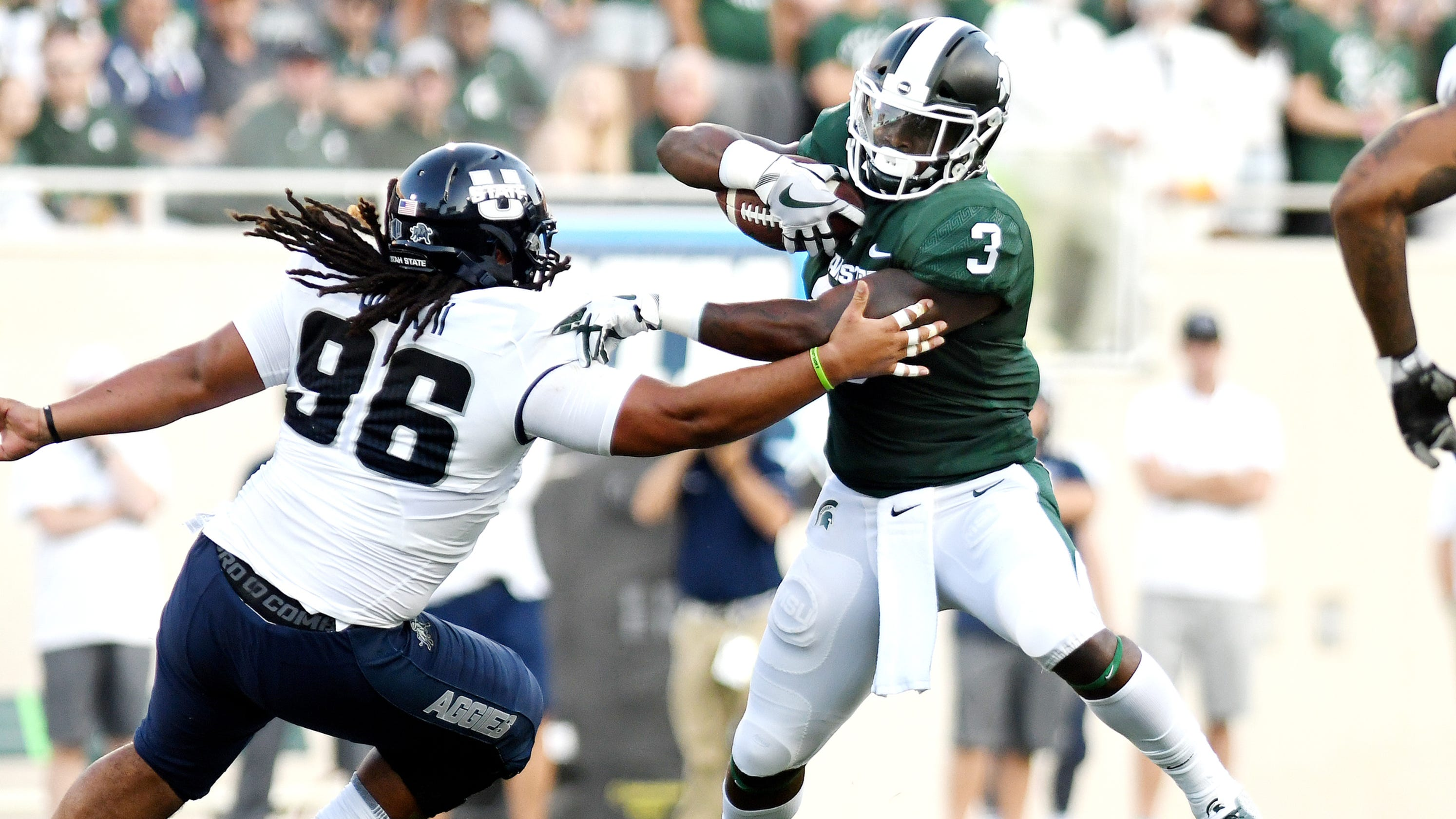 michigan state football survives utah state 3 quick takes from couch