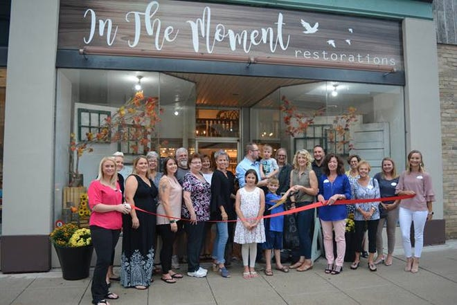 In the Moment Restorations, 931 S. Eighth St., Manitowoc,held a ribbon-cutting Aug. 28 to celebrate its third year in business and its recent move to a brick-and-mortar retail location.