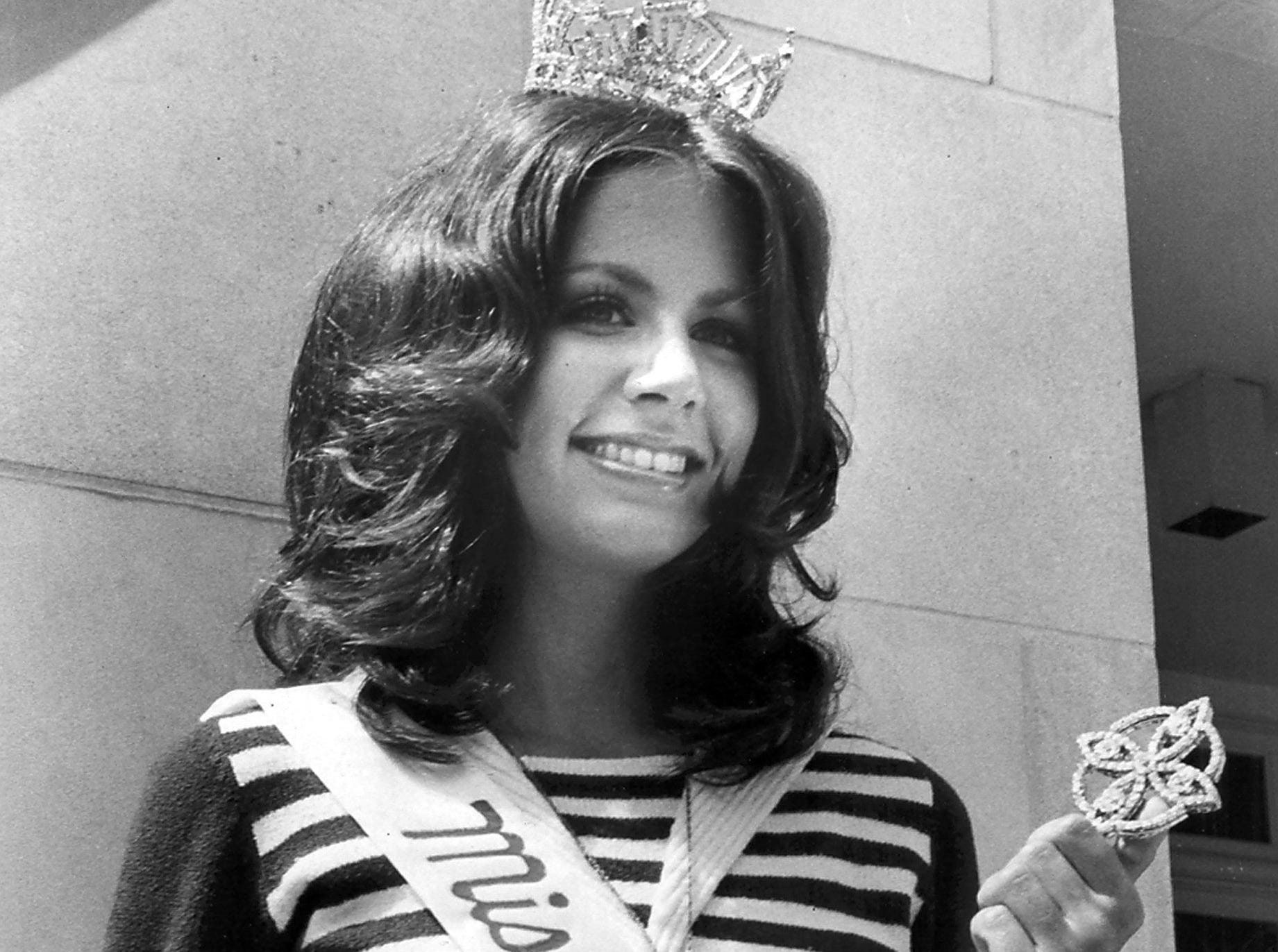Anne Randle Galloway was all smiles June 17, 1973, as she was named Miss Tennessee the night before in Jackson, Tenn. The blue-eyed, 5-foot-6 beauty is a 20-year-old senior at Memphis State University. Her parents are Mr. and Mrs. George H. Galloway of Knoxville. Betty Ann Hunt, Miss Memphis State, was first runner-up.