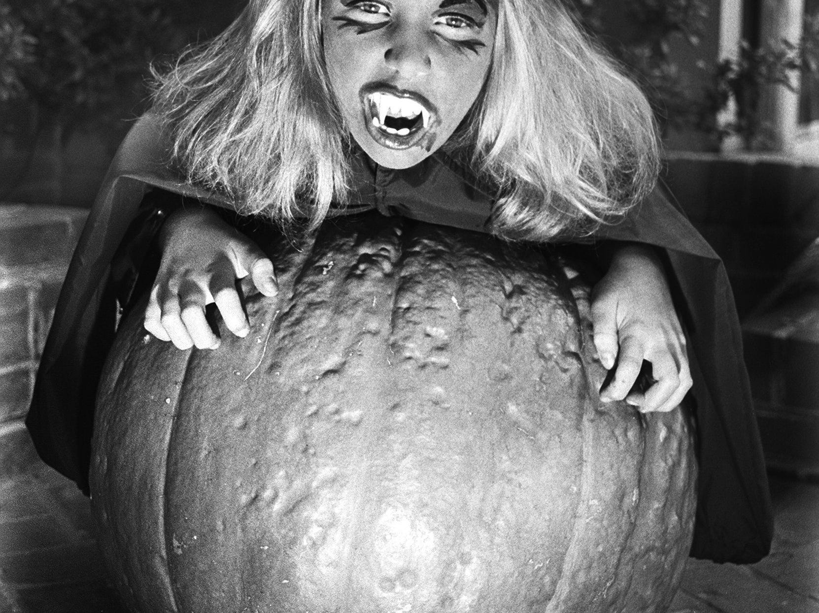 With mom's help, 10-year-old Jynnifer Isbell looks quite bewitching for Halloween in 1982.  Jynnifer is the daughter of Mr. and Mrs. John Isbell.