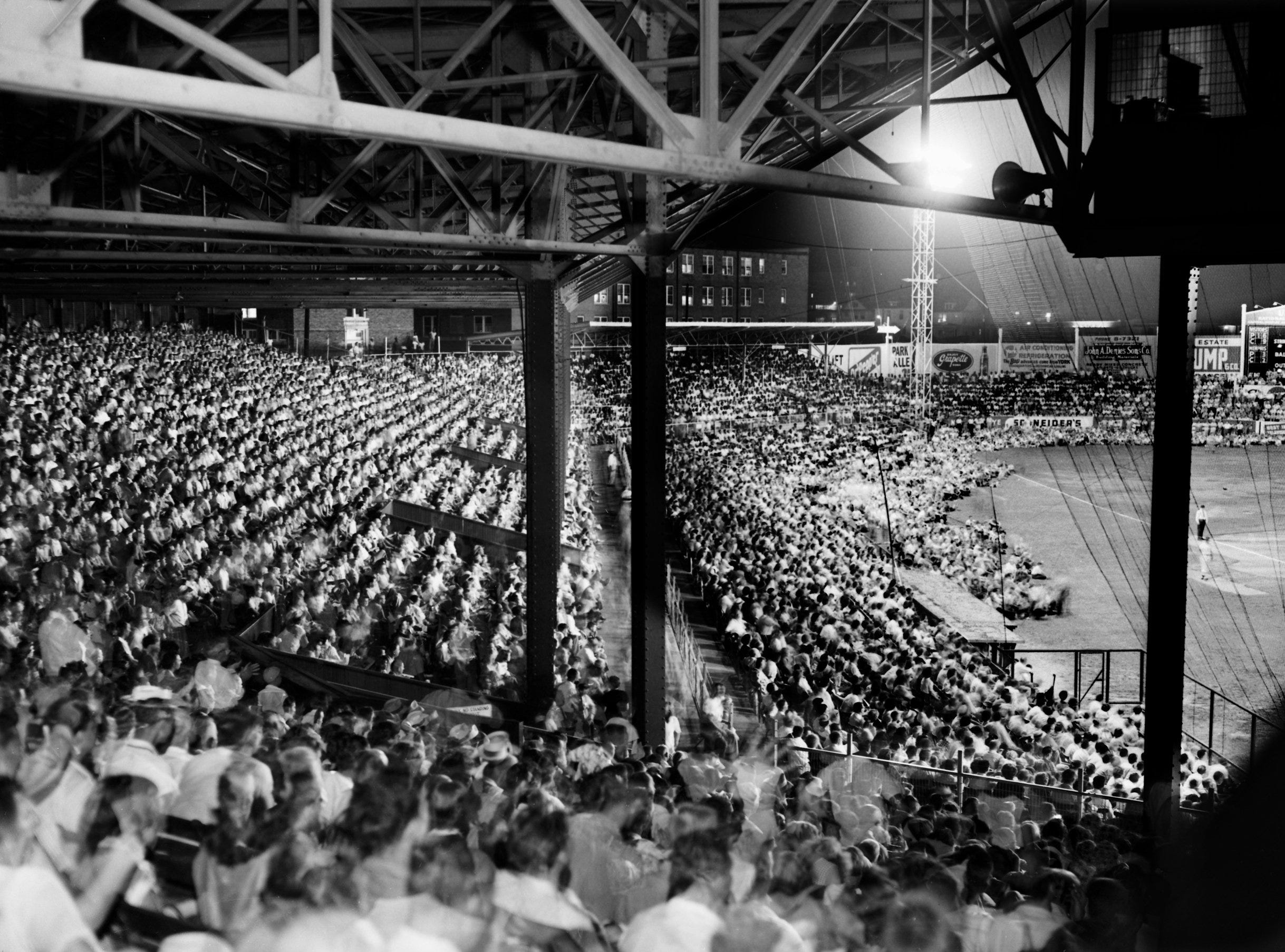 The largest crowd of the season turned out on 3 Sep 1953 at Russwood Park to watch baseball and a variety show.  The crowd of 14,343 was rewarded with an 8-4 Chick victory over Nashville. The Chicks' Bill Wilson hit three home runs and a single to drive in five runs.